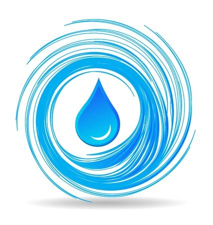 gocce di colore: Goccia d'acqua e le onde disegno vettoriale eps10