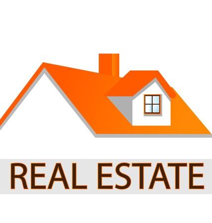 Huis dak logo voor onroerend goed bedrijven
