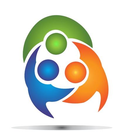 Teamwork group business logo Çizim