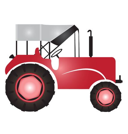 Tractor for agriculture, farm and fields vector Stock Vector - 16708185