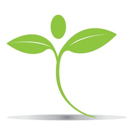 녹색 나뭇잎 로고 벡터 eps10를 파악