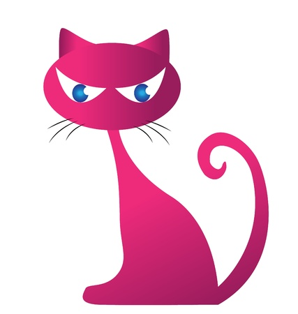 Pinky cat silhouette for your design vector eps10 일러스트