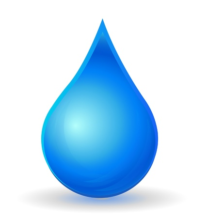 Water drop isolated  logo Stock Vector - 16821793