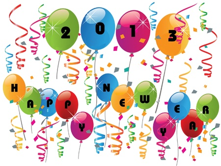 2013 celebration with balloons ,happy new year Stock Vector - 16821801