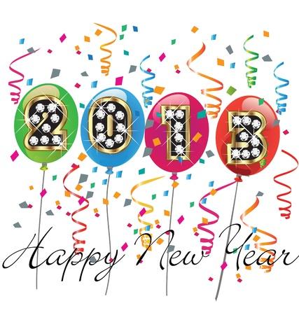 Happy new year 2013 Stock Vector - 16821802