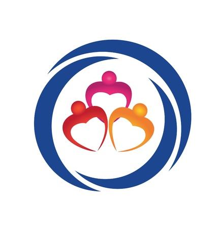 Hearts figures logo vector eps Stock Vector - 16905560