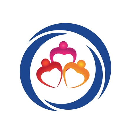 Hearts figures logo vector eps