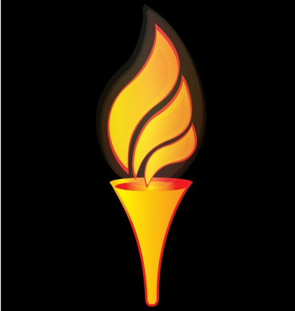 flame: Flame torch for sports logo vector