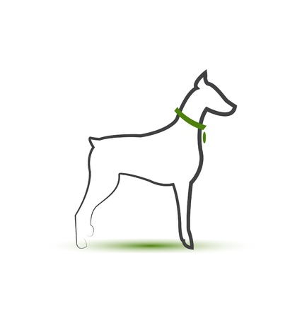 veterinarians: Dog silhouette stylized logo   Illustration