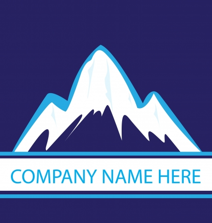 Mountains in blue navy logo  Illustration
