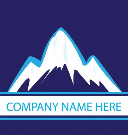 Mountains in blue navy logo Standard-Bild - 16977559