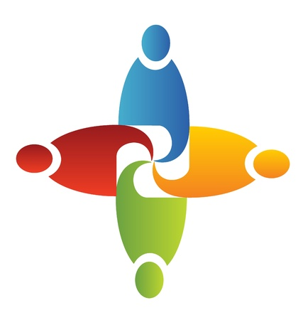 Teamwork in business logo