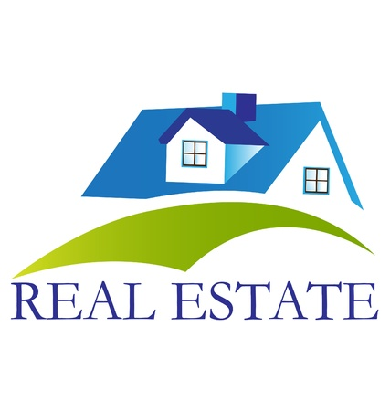 agents: Real estate house logo vector