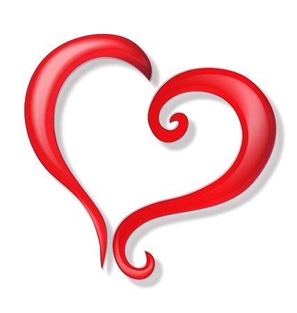 Heart of love logo Фото со стока - 17072103