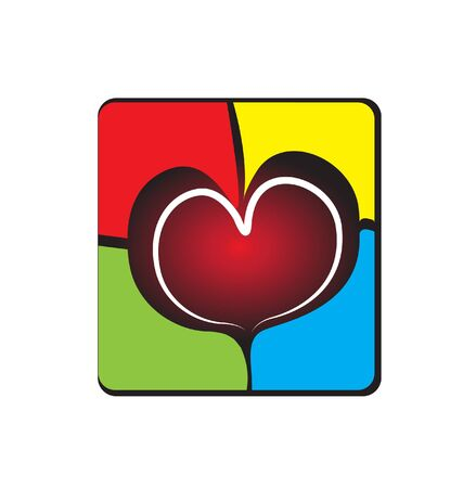 Heart on a broken wall Stock Vector - 17384822