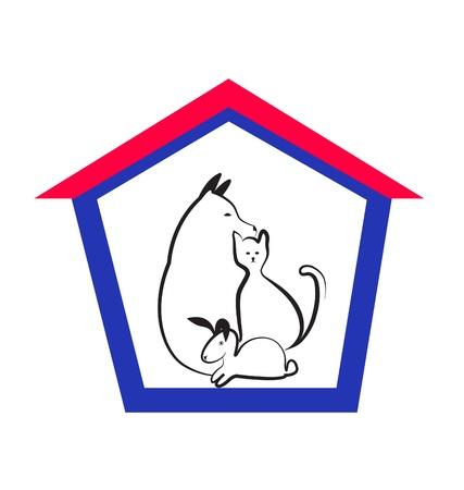 Veterinaire huisdieren logo Stock Illustratie