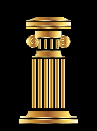 pilastri: Oro colonna di disegno vettoriale Vettoriali