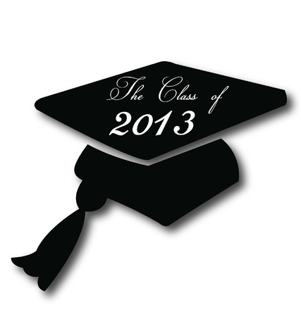 graduation hat: Graduation hat for the class of 2013