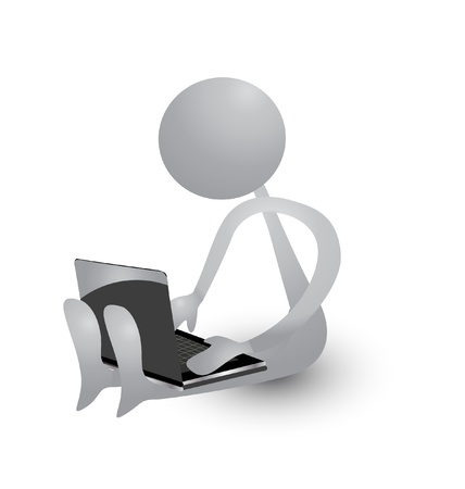 Menschen, die mit einem Laptop Standard-Bild - 17532050