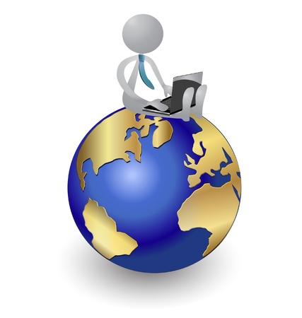Mensen die werken aan de wereld