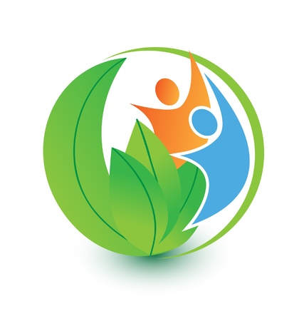 People and nature logo  Vector