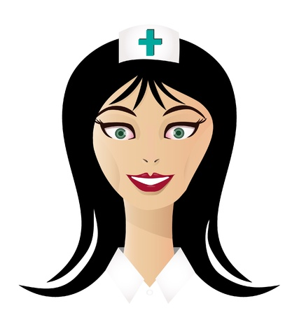 Pretty nurse face vector Vector