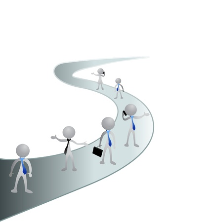 partners: Road and people in business