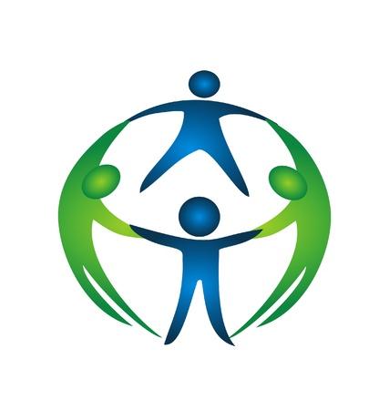 チームのロゴのグループ  イラスト・ベクター素材
