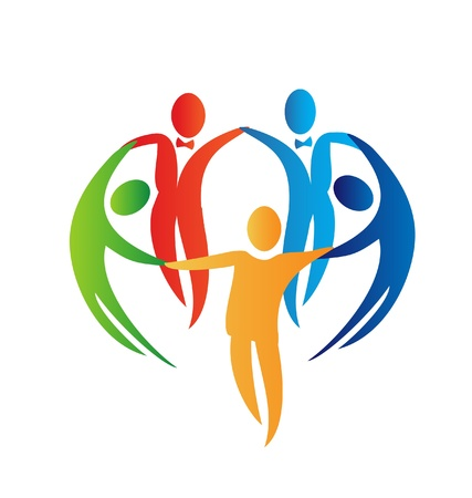 Diversity people logo  Illustration