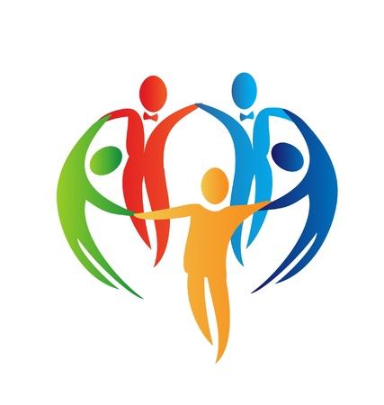 Rozmanitost lidí logo Ilustrace