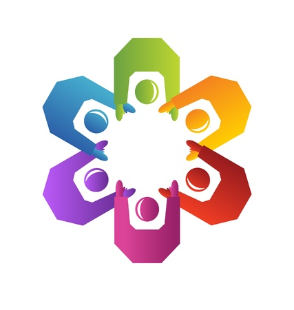 community: Teamwork people logo