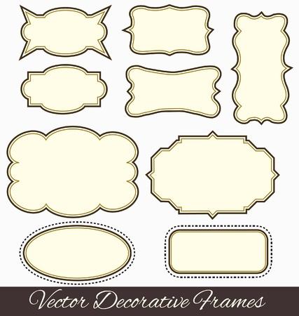 виньетка: Рамки элементы дизайна вектор Иллюстрация