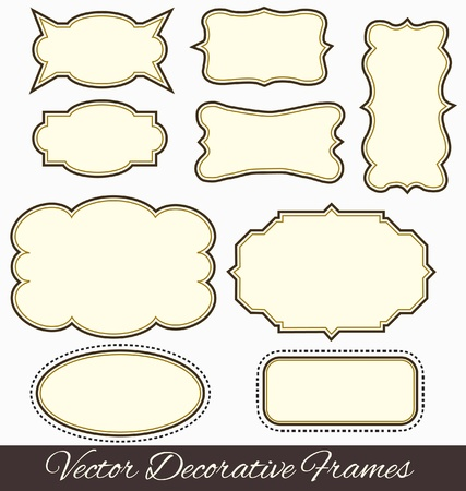dingbats: Frames design elements vector Illustration