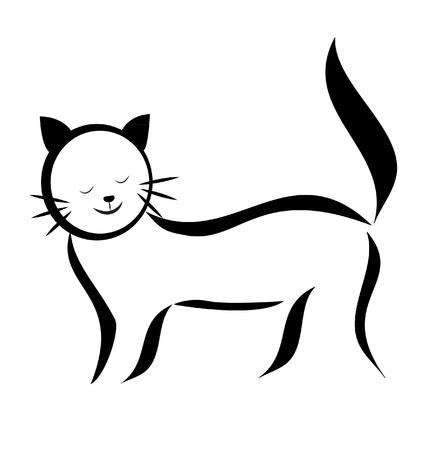 silueta de gato: Cat silueta