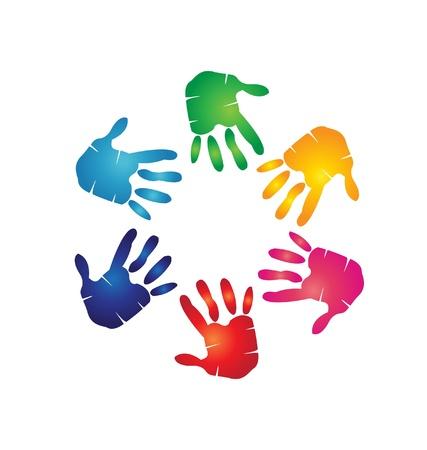 Handen kleurrijke