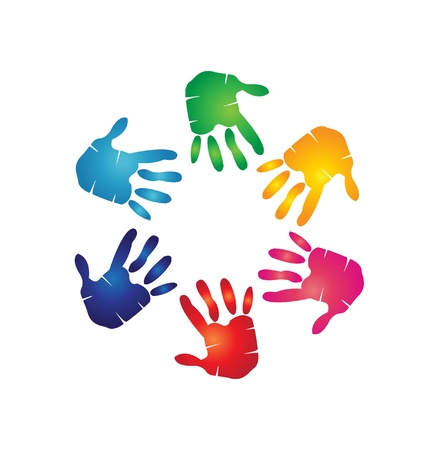 Hands colorful Vector