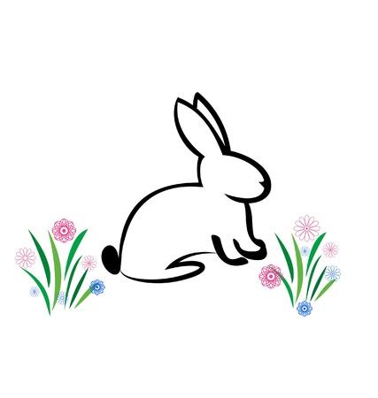 hares: Easter Bunny illustration