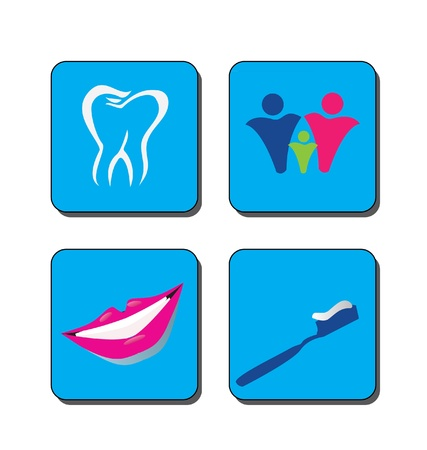 Dental care logo vector Vector