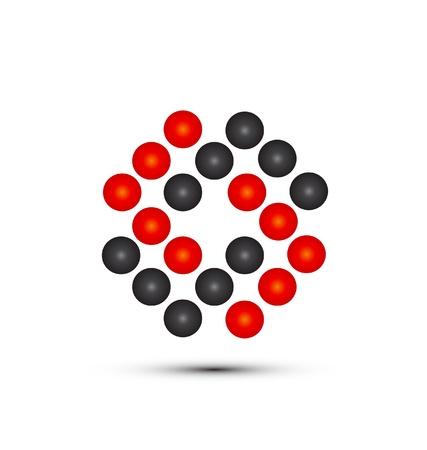 circles: Abstract circles logo vector