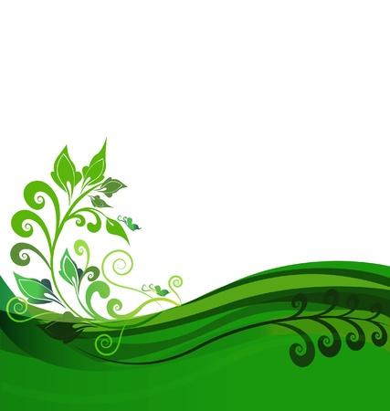 Vert de conception, floral, fond