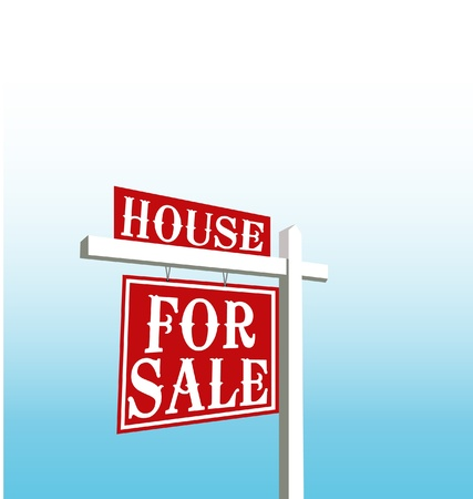 house sale: Sign of house for sale vector Illustration