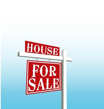 Teken van huis te koop vector