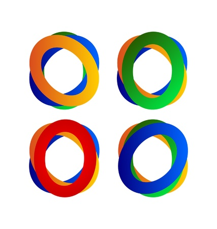Set of abstract circles logos Vector