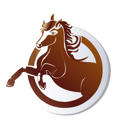 bottom line: Horse icon logo vector