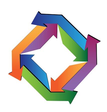 Abstract arrows geometric logo Stock Vector - 18751615