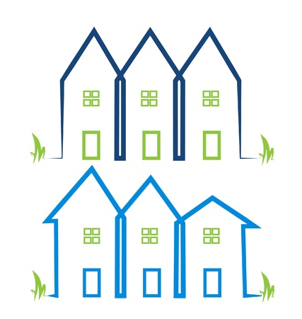 Real estate houses logos Vector