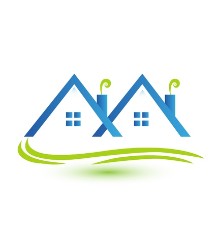 Townhouses real estate logo