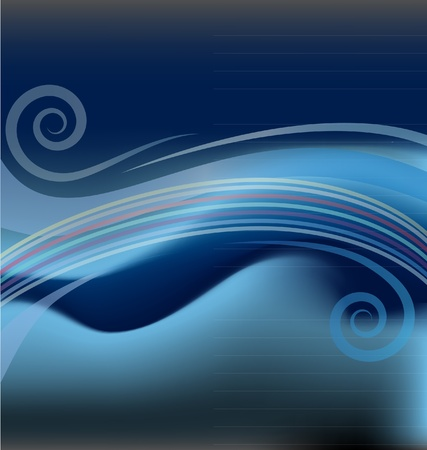 Swirly abstract background template Stock Vector - 19016945