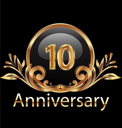 anniversario di matrimonio: 10 anni compleanno, anniversario in oro