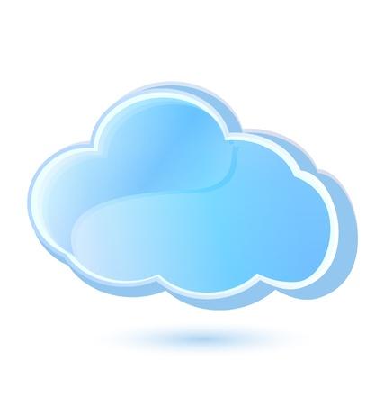 bulut: Bulut simgesi vektör